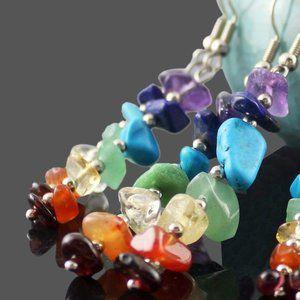 Jewelry - Dangling Seven Chakra Earrings